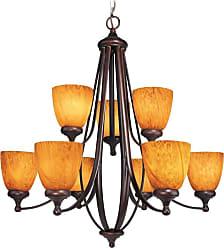 Woodbridge Lighting 10047-BOR Kenshaw 9 Light 28-3/4 Wide 2 Tier