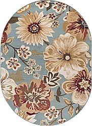 Tayse Camila Transitional Floral Blue Oval Area Rug, 5 x 7 Oval