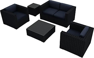 Harmonia Living Outdoor Harmonia Living Urbana 4 Piece Patio Sofa Set - HL-URBN-CB-4SS-IN