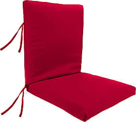 Jordan Manufacturing Company Classic Large Club Chair Cushion with Ties, 44 x 22, in Barn Red