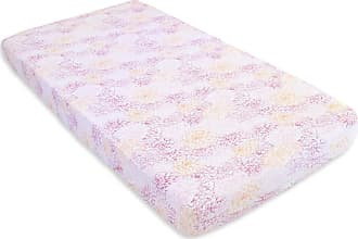 Burt's Bees Baby Peach Floral Print Organic Cotton BEESNUG Fitted Crib Sheet Blossom One Size