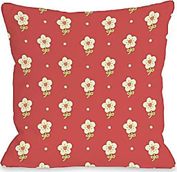 One Bella Casa Elanas Flowers Throw Pillow by OBC, 16x 16, Multi