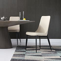 Whiteline Luca Faux Leather Dining Chair - Set of 2 - DC1472-TAU