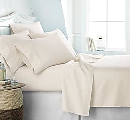 iEnjoy Home Simply Soft Ultra Soft 6 Piece Bed Sheet Set, King, Ivory
