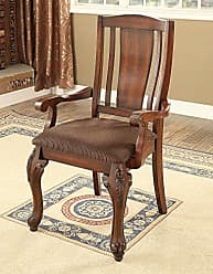 FURNITURE OF AMERICA CM3873AC-2PK Johannesburg I Arm Chair, Brown