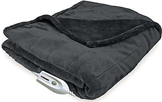 Serta | | Silky Plush Electric Heated Throw with with 4-Setting Controller, Grey