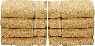 Home City Inc. Superior 100% Long Staple Combed Cotton 8 Piece Hand Towel Set, Gold