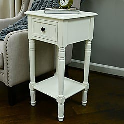 Decor Therapy FR1475 Simplify Accent Table with Drawer, Antique White