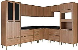 Multimóveis Cozinha 10 Módulos 19 Portas 4 Gavetas Nogueira Multimóveis