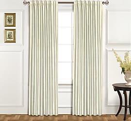 United Curtain 100-Percent Dupioni Silk Window Curtain Panel, 42 by 84-Inch, Oyster