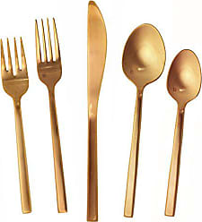 Fortessa Arezzo 18/10 Stainless Steel Flatware, 20 Piece, Service for 4, Rose Gold