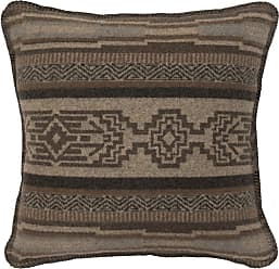 Wooded River Lodge Lux Geometric Square Indoor Pillow - WD26670