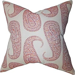 The Pillow Collection Amahl Paisley Orange Down Filled Throw Pillow
