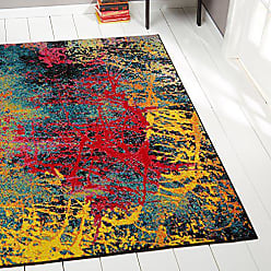 Home Dynamix Splash Tomie Area Rug 33x43, Abstract Black/Blue/Pink/Yellow