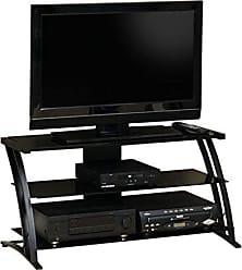 Sauder Sauder 408559 Deco Panel TV Stand, For TVs up to 42, Black/black