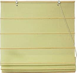 Oriental Furniture Cotton Roman Shades - Yellow Cream - (24 in. x 72 in.)