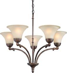 Woodbridge Lighting 12126-RBZ Darien 5 Light 26 Wide Single Tier