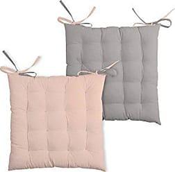 LOVELY CASA Sitzkissen Klettverschluss Baumwolle 40/x 40/cm Grau//Perle