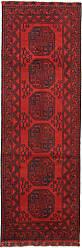 Nain Trading Oriental Afghan Akhche Rug 81x28 Runner Dark Brown/Rust (Wool, Afghanistan, Hand-Knotted)