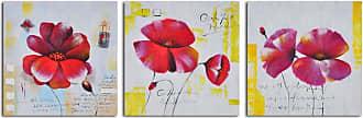 Omax Decor Floral Notes 3-Piece Canvas Wall Art Set - A 4716