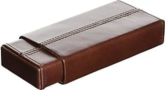 Visol Products VCASE801 Maurya Genuine Leather Cigar Case, Brown