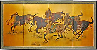 Oriental Furniture 36 Riders in the Storm on Gold Leaf