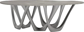 Zieta G-table B And C In Brushed Stainless Steel With Concrete Top By Zieta