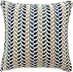 Benzara BM131572 Drop Contemporary Pillow, Set of 2, Blue and Yellow