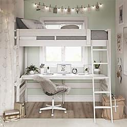 Dorel Living DA6580W Harlan Loft Bed, White