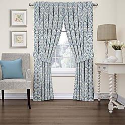 Ellery Homestyles Waverly 15421052084CRF Donnington 52-Inch by 84-Inch Damask Single Window Curtain Panel, Cornflower
