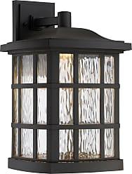 Quoizel Stonington LED 17 Outdoor Wall Lantern in Mystic Black