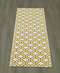 Ottomanson Studio Collection Trellis Design Runner Rug 20 X 59 Yellow