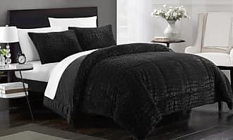 Chic Home 3 or 7-Piece Comforter Bedding Set - Black - Queen