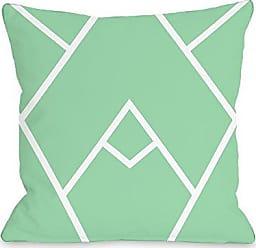 One Bella Casa Mountain Peak Throw Pillow by OBC, 18x 18, Honeydew