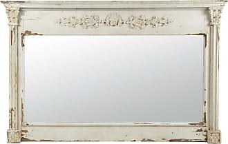 maisons du monde miroir en bois blanc h 97 cm albane