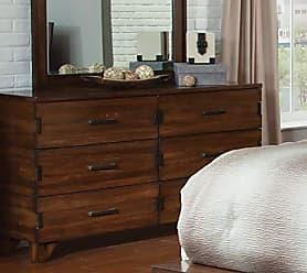 Coaster 204853-CO Yorkshire 6 Drawer Dresser, Dark Amber/Coffee Bean