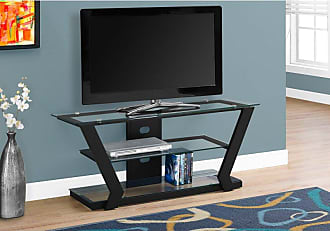 Monarch Specialties 48 in. Metal/Glass TV Stand - I 2588