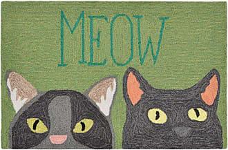 Liora Manne Frontporch 1821/06 Meow Indoor / Outdoor Door Mat - FTP23182106