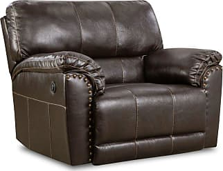United Furniture Simmons Upholstery Abilene Chestnut Cuddler Recliner - 50961PBR-195 ABILENE CHESTNUT