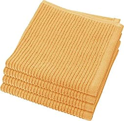 Now Designs Ripple Kitchen Dishcloth, Set of 4, Honey