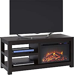 Ameriwood Home Parsons Electric Fireplace TV Stand for TVs up to 55, Espresso