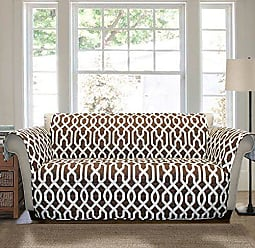 Lush Décor Lush Decor Edward Trellis Furniture Protector, Loveseat, Brown