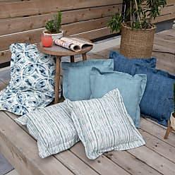 Belham Living New Harbor 16 x 16 in. Outdoor Toss Pillow - Set of 2 Indigo Stripe - NEW HARBOR48