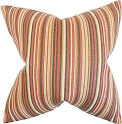 The Pillow Collection Janan Stripes Bedding Sham Flame, Standard/20 x 26
