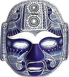 Novica Ceramic mask, Midnight Olmeca - Handmade Ceramic Mexican Folk Art Mask