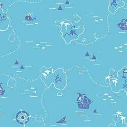 Brewster Home Fashions Sharks Map Wallpaper Blue - 2679-002104
