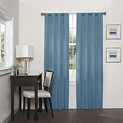Ellery Homestyles ECLIPSE Blackout Curtains for Bedroom - Darrell 37 x 63 Insulated Darkening Single Panel Rod Pocket Window Treatment Living Room, 37 x 95, Sky