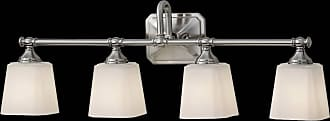 Feiss VS19704-BS Concord Vanity Fixtures in Brushed Steel finish with White Opal Etched Glass