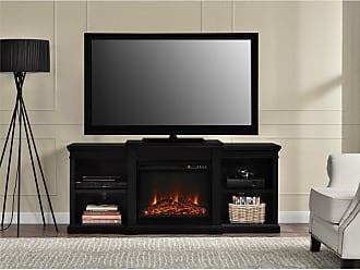 Ameriwood Home Manchester Electric Fireplace TV Stand with Side Shelves - 1767096PCOM