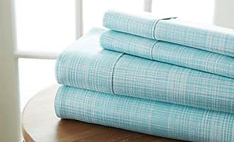 iEnjoy Home Becky Cameron Printed Thatch Patterned Quality 4 Piece Sheet Set, Queen, Aqua